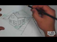 Como desenhar um cenário com 2 pontos de fuga - YouTube