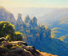 Three Sisters Painting katoomba My Originals can be purchased from my website www.landscape-paintings-austra… Commissioned Paintings also Accepted, any size Email me at artsaus@hotmail.com M...