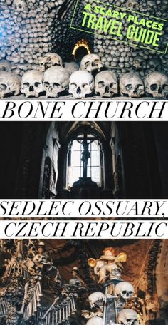 Visiting the devilishly macabre Bone Church of Sedlec Ossuary in Kutna Hora near Prague, Czech Republic (A Scary Places Travel Guide! Europe Travel Tips, European Travel, Travel Guides, Places To Travel, Travel Destinations, Travel Articles, Travel Stuff, Travel Pictures, Travel Photos