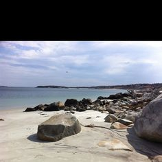 White beach NS in early spring