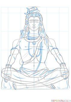 Resultado de imagem para god with four arms draw