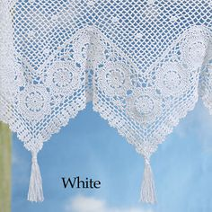 Victoriana Crochet Valance - Stylish Home Accents and Décor - Graceful Clothing, Accessories & Jewelry