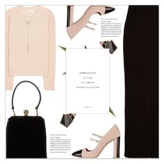 """""""Blush & Black"""" by monazor ❤ liked on Polyvore featuring Enza Costa, Chloé, Miu Miu, Dolce&Gabbana, Nak Armstrong, Sterling Forever, Elegant, womenfashion, chicoutfit and summer2016"""