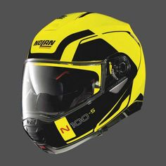 b302fc2d Nolan N100-5 Consistency N-Com Helmet - Led Yellow Cool Motorcycle Helmets,