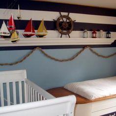 Modern Baby Nursery Bedding Ideas - Nautical Inspiration Nursery