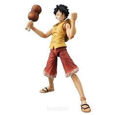One Piece Mega House Variable Action Heroes Action Figure : Monkey D. Luffy PAST BLUE (Ver.Yellow)