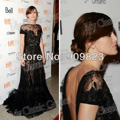 06b2d9750c12 2013 Anna Karenina In Elie Saab Sequins Black Lace Sequins A-Line Open Back  Formal