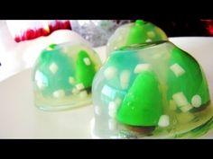❄ Jelly Snow Globes ❄ ゼリーのスノーグローブ❄ Christmas Items, Snow Globes, Holiday Dinner, Gelatin, Jelly, Watermelon, Goodies, Winter, Birthday