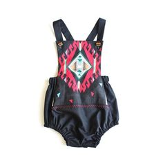aztec, native, kids jumpers, playsuits, children's fashions, vintage kids  Aztec Nites by Paush