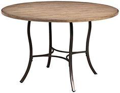 Hillsdale Furniture Charleston Wood & Metal Round Dining Table