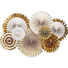Gold Party Rosettes $25 Paper Source