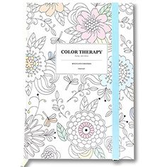 "'Color Therapy' Anti Stress Adult Coloring Stationery Hardcover Notebook Journal Bookbound Lined Note Pad, 192p, 5.04""x 7.2""x0.59"" (White) b_odd supplies http://www.amazon.com/dp/B01538OEMI/ref=cm_sw_r_pi_dp_G47Kwb0A4ZG97"