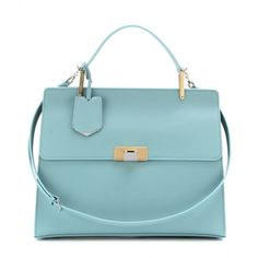 Balenciaga Le Dix Cartable Leather Tote ($1,945) ❤ liked on Polyvore featuring bags, handbags, tote bags, balenciaga, purses, borse, bleu nuage, genuine leather tote, hand bags and leather tote bag