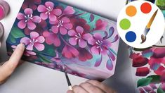 My name is Irina Lyamshina. In this video you will see how I paint a flowers. For painting you can use acrylic paints. I paint with flat brush. You can buy p...