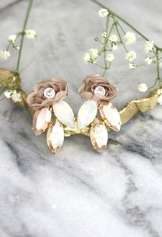 Bridal Earrings Bridal Rose Gold Earrings Bridal Cluster  Click here to shop >> http://etsy.me/2gYMNax