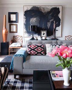 Mimosa Lane: Home Tour || Javier Castilla #art #interiors #livingroom