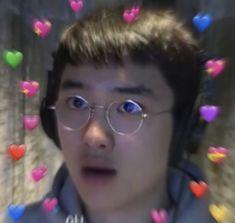 D.O you really love me?! Kyungsoo, Chanyeol, K Meme, Exo Memes, Taeyong, Jaehyun, Grunge, Heart Meme, Super Funny Memes