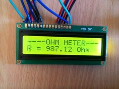 The article explains how to make a simple Arduino digital ohmmeter circuit using 16 x 2 LCD display module Arduino Lcd, Arduino Stepper, Arduino Board, Arduino Circuit, Diy Projects Design, Iot Projects, Google Glass, Cool Electronics, Electronics Projects