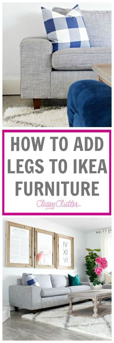 Ever wondered how to add legs to ikea couches? or any couches or any furniture? Today I willl show you a super easy way to add legs to ikea couches!