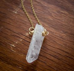 Hey, I found this really awesome Etsy listing at https://www.etsy.com/listing/195316333/clear-quartz-point-pendant-with-14kt