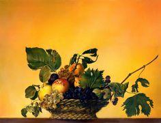"""Basket of Fruit"" (a copy according to Caravaggio"