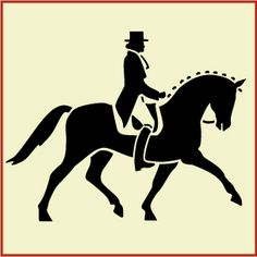 Some great horse stencils, would be good for jumps