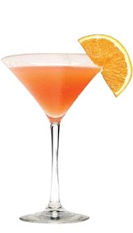 Orange Breeze Martini~ 2oz skyy blood orange vodka 1/2 oz pineapple juice 1/2oz cranberry juice 1/2oz lemon juice Martini shaker w ice into glass Garnish orange wedge