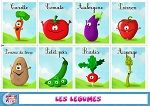 Cartes à imprimer apprendre les légumes Core French, French Class, French Lessons, Learning English For Kids, French Language Learning, Kids Learning, How To Speak French, Learn French, Learn English