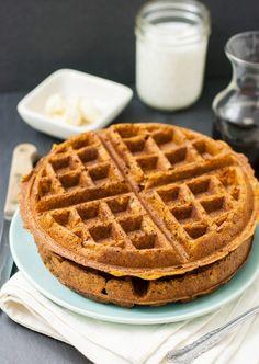 Sweet Potato / Pumpkin Waffles (vegan)
