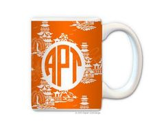 Orange Pagoda Personalized Coffee Mug from Paper Concierge