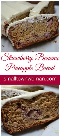 This super moist bread is so delectable you will find it hard not to eat the whole loaf!  It just melts in your mouth!  The lightly sweetened pineapple cream cheese icing complements the bread perfectly!