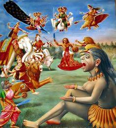Kali drinking the blood of a demon, who is battling with Ashta Matrikas Shiva Art, Ganesha Art, Shiva Shakti, Hindu Art, Durga Images, Indiana, Kali Mata, Kali Goddess, Lord Vishnu Wallpapers