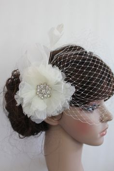 Wedding accessory veils Bridal birdcage veil Wedding by Amoretto