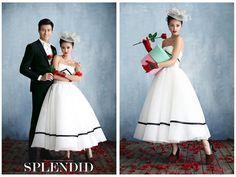 影楼主题婚纱 情侣服装时尚短裙礼服 2015新款高端写真白色蓬蓬裙