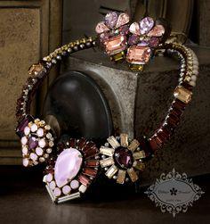 Bitter Sweet jewellery. Statement Necklace. #FashionTrend #Bold #Stylish #pink #purple #Classic #holiday #winter