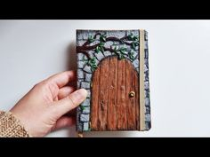♦ Tutorial: Back to school X Fantasy polymer clay notebook cover - YouTube