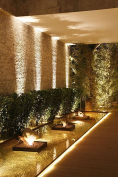 landscape lighting design Backyard lighting ideas can add a touch of grandeur to an elegant garden. Find the best design ideas and transform your outdoor space! Fence Lighting, Backyard Lighting, Cool Lighting, Outdoor Lighting, Lighting Design, Outdoor Decor, Outdoor Ideas, Garden Lighting Ideas, Ceiling Lighting
