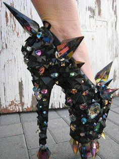 LADY GAGA HEELS, You could do some serious damage with these but I still love them !