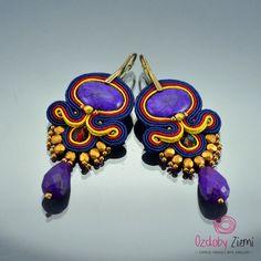 Soutache Earrings Penyu Emas will add glamour to by OzdobyZiemi #soutache…