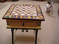 Chess table of knights by cosetsbest on Etsy, $800.00