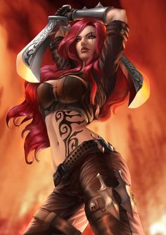 LEAGUE OF LEGENDS SEXY GIRLS • Katarina_fanart by Zamberz: