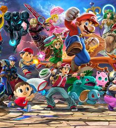 Gaming icons clash in the ultimate showdown you can play anytime, anywhere when a new entry in the Super Smash Bros.™ series arrives on the Nintendo Switch™ system! Super Smash Bros Melee, Nintendo Super Smash Bros, Tekken 7, Monster Hunter, Live Action, One Punch Man, Smash Bros Tournament, Arcade, Nintendo Switch System