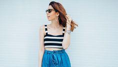 Look do dia: saia mídi jeans