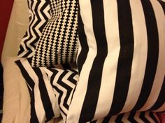 Black and white cushions --- finally finished!!