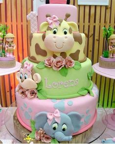 How cute is this baby shower cake? Giraffe Elephant – Kuchendeko – … How cute is this baby shower cake? Giraffe Elephant – Kuchendeko – How cute is this baby shower cake? Giraffe Elephant – Kuchendeko – … How cute is this baby shower cake? Baby Cakes, Baby Shower Cakes, Baby Birthday Cakes, Birthday Ideas, Shower Baby, Fun Cupcakes, Cupcake Party, Cupcake Ideas, Fondant Cakes
