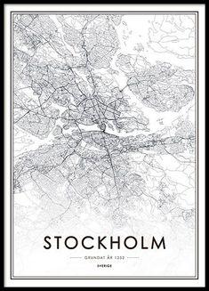 Stockholm, affiche dans le groupe Affiches / Formats / 61x91cm chez Desenio AB (8131)