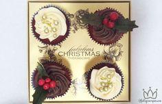 Fabulous Christmas By The King Cake - Feliz com Pouco Cupcakes deliciosos de natal.