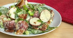 red potato bacon and spinach salad FI 2
