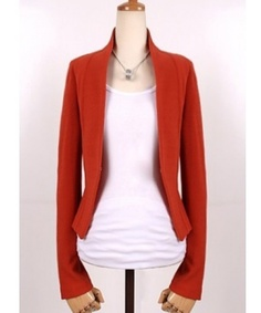 Red Korean Fashion Women Hot Sale Shrug Slim Suit Jacket S/M/L A2601r for $13.99 only in ClothingLoves.net