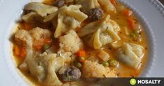 Vegetable soup with meat dough dumplings My Recipes, Cooking Recipes, Healthy Recipes, Healthy Food, Thai Red Curry Soup, Kinds Of Soup, How To Cook Asparagus, Hungarian Recipes, Hungarian Food